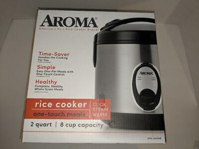 Aroma 8 Cup Rice Cooker - Stainless Steel (NEW)