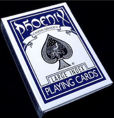 Phoenix Deck Large Index (Blue) Playing Cards by Card-Shark