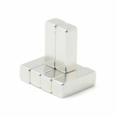 100x Neodym Aimant Forte N35 Super Aimants Aimant Super Cubique 30 x 10 X 10 MM