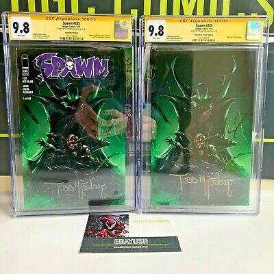 Spawn #285 Trade + Virgin Set Cgc Ss 9.8 Signed Todd Mcfarlane Megacon 2018