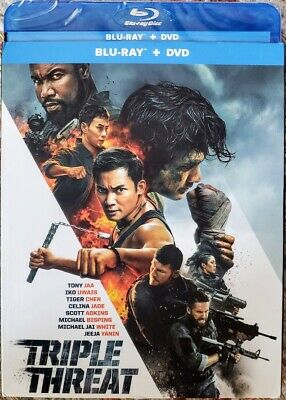 ☆New☆ Triple Threat Bluray + Dvd Movie Sealed Slipcover Free Shipping