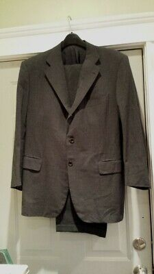 Luciano Barbera for Louis Boston 100% Wool Charcoal Gray Suit - Size 56R