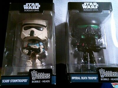 FUNKO WOBBLERS-Star Wars-Rogue One-Scarif Stormtrooper & Imperial Death Trooper