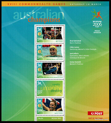 2006 Commonwealth Games Gold Medallists Sheetlet #04 MUH Mint Stamps Australia