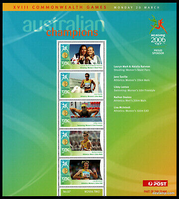 2006 Commonwealth Games Gold Medallists Sheetlet #07 MUH Mint Stamps Australia