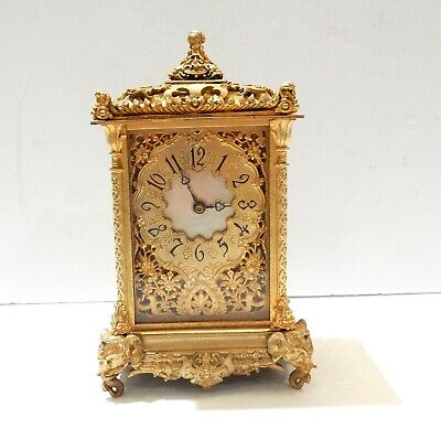 French Gilt Bronze Elephant Carriage Clock
