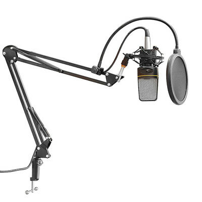 1 X Broadcast Studio Microphone Mic Suspension Boom Scissor Arm Stand Recording