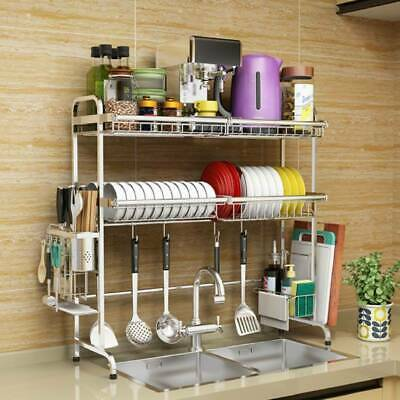 Over The Sink Dish Drying Rack Collapsible Stainless Steel Dish Drainer