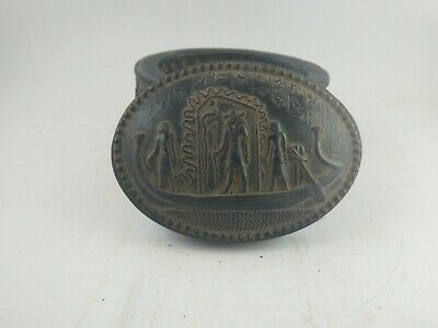 RARE ANTIQUE ANCIENT EGYPTIAN Box King Tutankhamun Marriage Boat 1343-1325 Bc