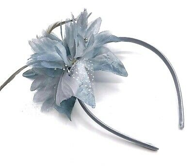 Grey Feather Aliceband Headband Fascinator Ladies Day Ascot Races