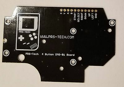 GAMEBOY DMG-01 4 Button PCB DIY Pi Zero ENIG Finish Grounds and Hole