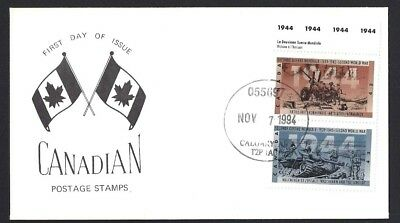 Canada  # 1538  SECOND WORLD WAR 1944 - SPECIAL CACHET    New 1994 Unaddressed