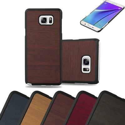 Hard Cover for Samsung Galaxy NOTE 5 Shock Proof Case Wooden Style Rigid TPU
