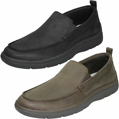 Mens Clarks Cloudsteppers Rounded Toe Formal Slip On Textile Shoes Tunsil Way