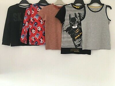 Boys Age 6-7 Years T-Shirts Bundle Next, Lego, F&F, George