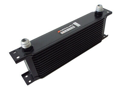 Motamec Oil Cooler 13 Row - 235mm Matrix -10 AN JIC - Black Alloy