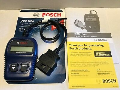 Bosch Pocket Scan OBD1000 OBD2 Code Reader Reads & Erase Engine Light Codes