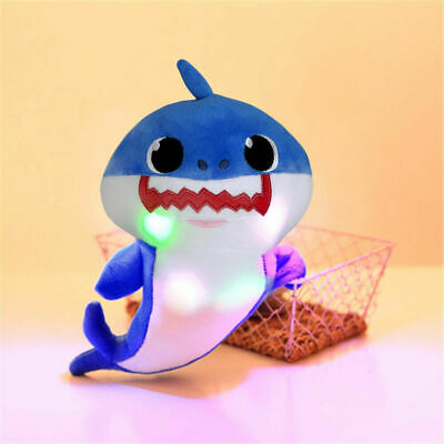 Baby Shark Plush Stuffed Musical Doll w/Light Singing Toys Gift Daddy Shark Blue