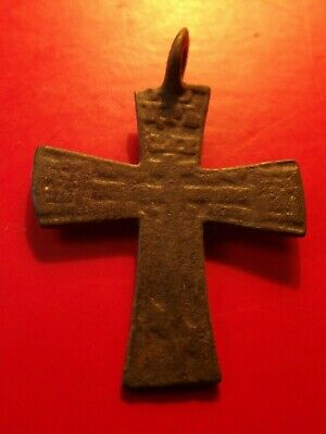 Antique Old Believers Russia Empire 15 th Brass Cross Christian Orthodox 2.91 g