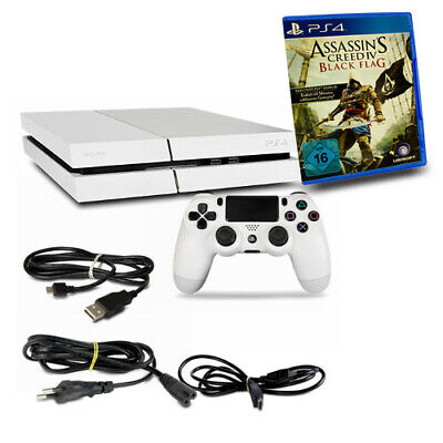 PS4 Console CUH1116A 500GB Bianco #32 +Controller+Assassins Creed 4 Black Flag