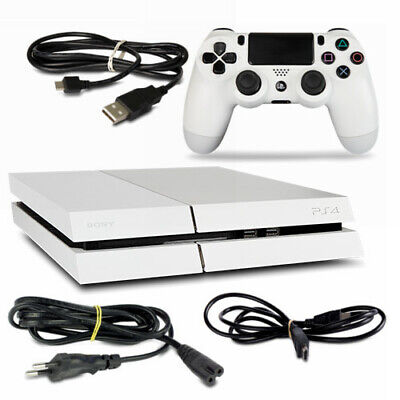 PS4 - Playstation 4 Console CUH1216A 500GB Bianco #35 + Tutti Cavo + Controller