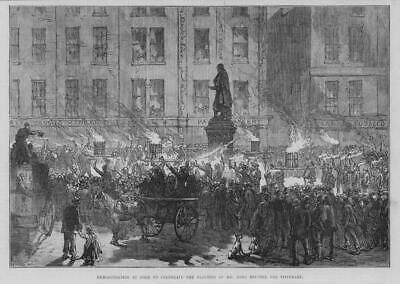 1875 Antique Print - IRELAND Tipperary Election John Mitchell Cork Parade (41)