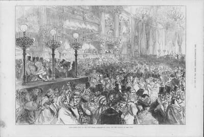 1875 Antique Print - FRANCE Paris Opera House Fancy Dress Ball Benefit Poor(183)