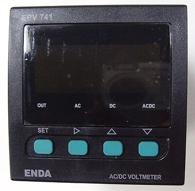 500V AC/DC Panel Mount Voltmeter, ENDA APV741, supply power 230VAC