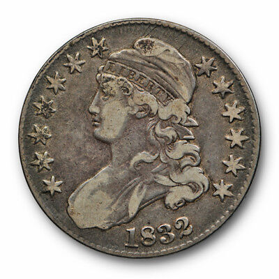 1832 50C Capped Bust Half Dollar Very Fine to Extra Fine Small Letters #4278