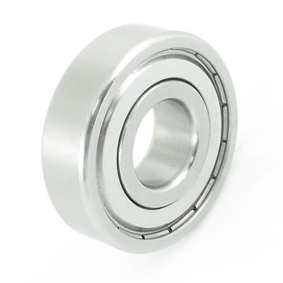 H● Siver Tone Stainless Steel 52mm OD 20mm ID Deep Groove Ball Bearing.