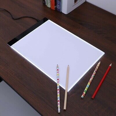 4 LED Light Box Tracing Drawing Board Art Design Pad Copy Lightbox USB+AU Plug