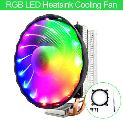 RGB LED Heatsink Cooling Fan Silent CPU Cooler For Intel LGA 1150/1151 AMD au