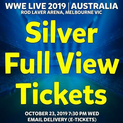 Wwe Live Australia 2019 Tickets Melbourne | Full View Silver Reserve Wed 23 Oct