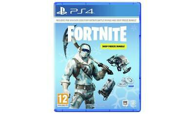 Fortnite Deep Freeze Bundle PS4 Including The Frostbite Outfit Cold Front Glider