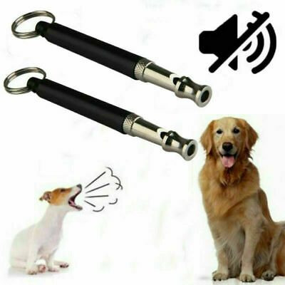Pet Dog Training Obedience Whistle Ultra Sonic Sound Pitch Black Quiet Command