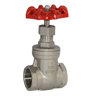 "1"" Female Threaded Gate Valve CF8M Heavy Duty Stainless Steel SS316 BSP"