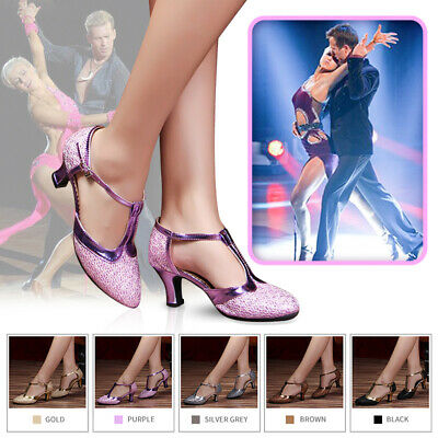 Women Ladie's Latin Dance Shoes Ballroom Tango Salsa Dance Party Hook Loop Shoes