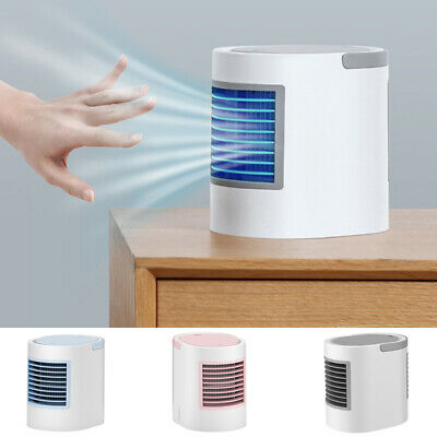 Portable Air Conditioning Fan Mini Air Cooler Low Noise Cooler Night Light USB