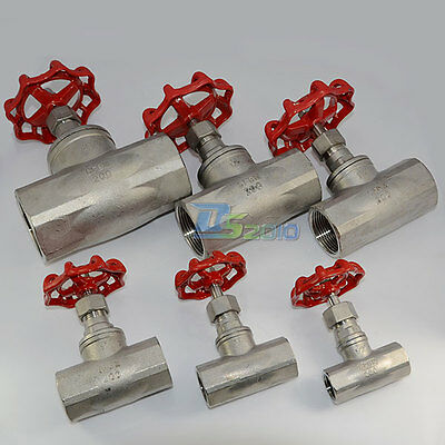 "1/2"" to 2"" Globe Valve 350 Degrees Stainless Steel SUS SS316 BSP CF8M Heavy Duty"