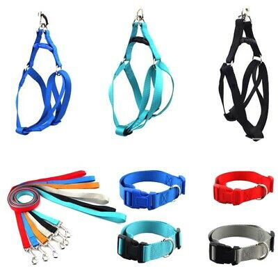 Dog Harness Leash Collars Set Easy Control Adjustable Puppy Cat Pet Safety Strap