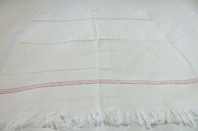 TOWEL in ANTIQUE/VINTAGE ~ VICTORIAN Cotton Waffle/Fringe TOWEL ~