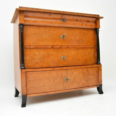 Antique Swedish Biedermeier Satin Birch Chest of Drawers