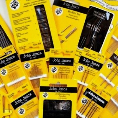 John James Hand Sewing Needles, Various Styles & Sizes available to choose from