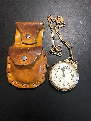 HAMILTON Railway Special Pocket Watch Works With Rare Carry Case Must See
