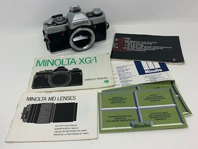 Minolta XG-1 Film 45 Camera Vintage Untested With Papers Manuals