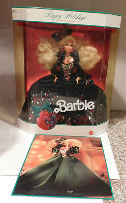 Vintage 1991 Mattel  Happy Holidays Barbie # 1871 Blonde Doll Minty in Box
