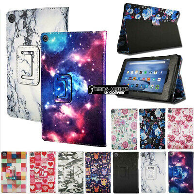 For Amazon Kindle Fire 7 2019 9th gen With Alexa Smart Leather Stand Cover Case