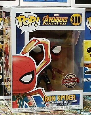 Funko Pop Avengers Infinity War Iron Spider with Legs Exclusive Mint w/Protector