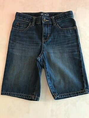 The Children's Place Boys Jean Denim Shorts Size 6 Back to School