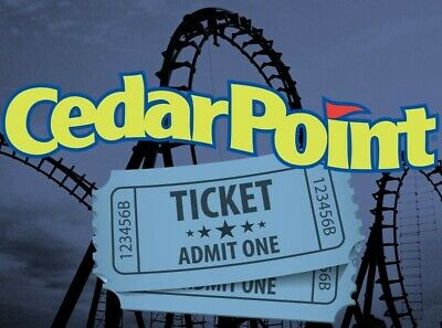 4 CEDAR POINT THEME PARK TICKETS - Sandusky, OH -  Adult or Child